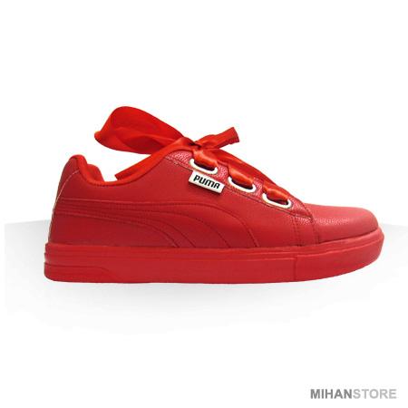 فروش اینترنتی زمستانه کفش پایپونی قرمز دخترانه زنانه